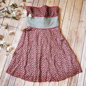 Free People Floral Strapless Dress